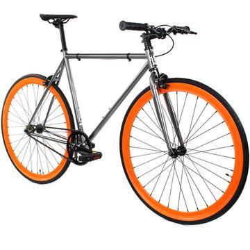 Steel Single Speed, Grey/Orange $299