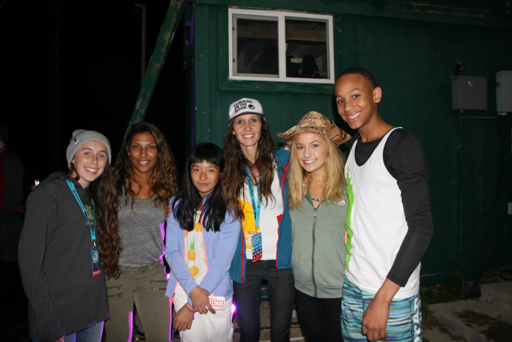 Left to Right:  sara griffin, Meagan Martin, Ashima Shiraishi, JC Hunter, and Sasha Digiulian  Photo snapshot from ORSM2014 (Outdoor Retailer Facebook page)