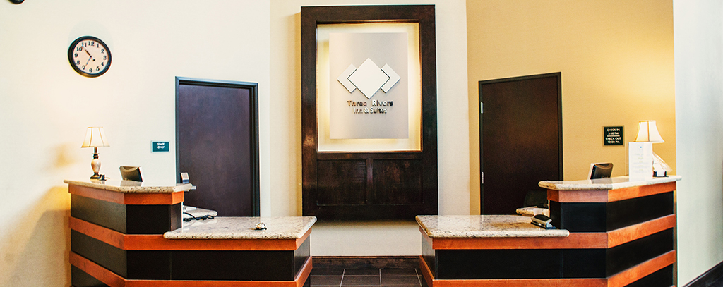 Front desk at Three Rivers