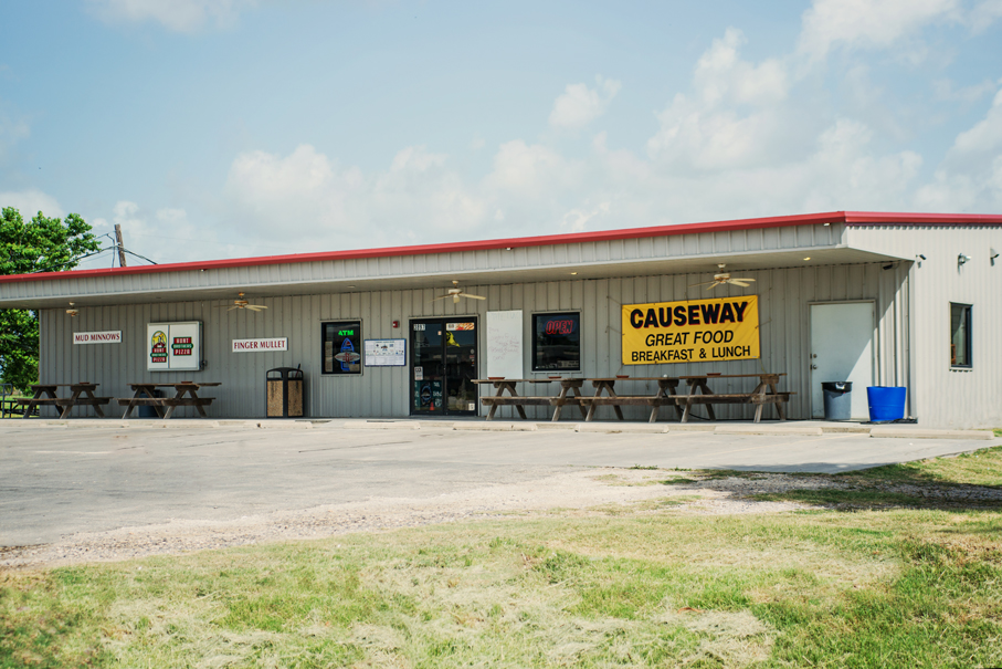 Causeway Bait&Tackle; Bar & Grill, at Walter Umphrey State Park!