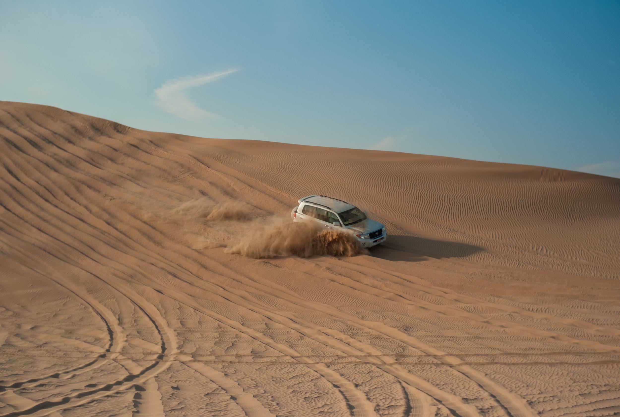 Dune bashing...