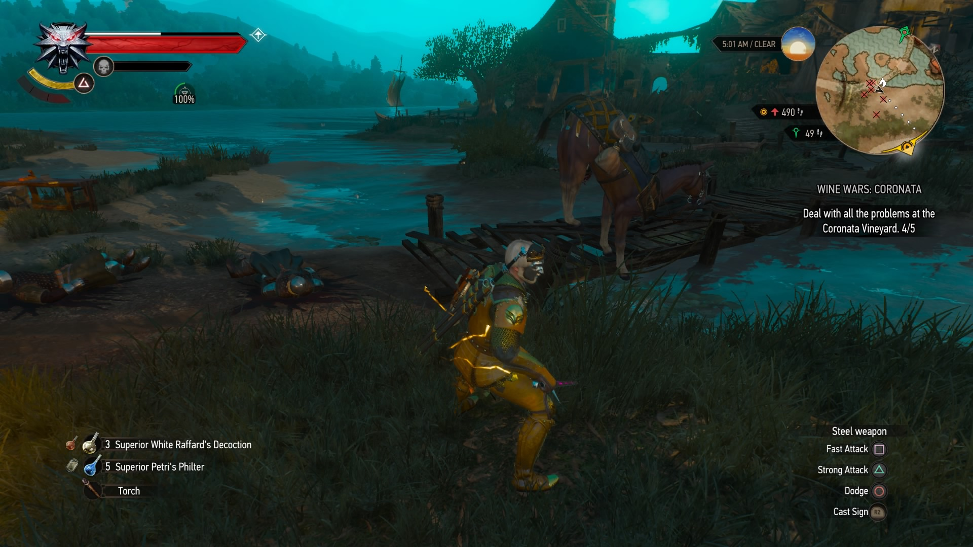 To have any hope of defeating The Hipless Horse of American folklore, Geralt must put to use the expanded mutation system, which not only grants him powerful new buffs, but also opens up new slots for old signs. The grandmaster witcher gear and the buffs from his new vineyard-cum-house are not only equally helpful, but also put to use the wealth of Florens he has likely accumulated during Wild Hunt and Hearts of Stone.
