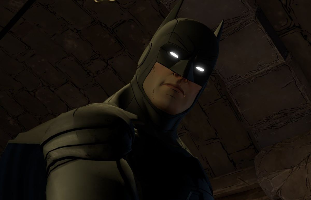 Batman, now with glow in the dark eyes.
