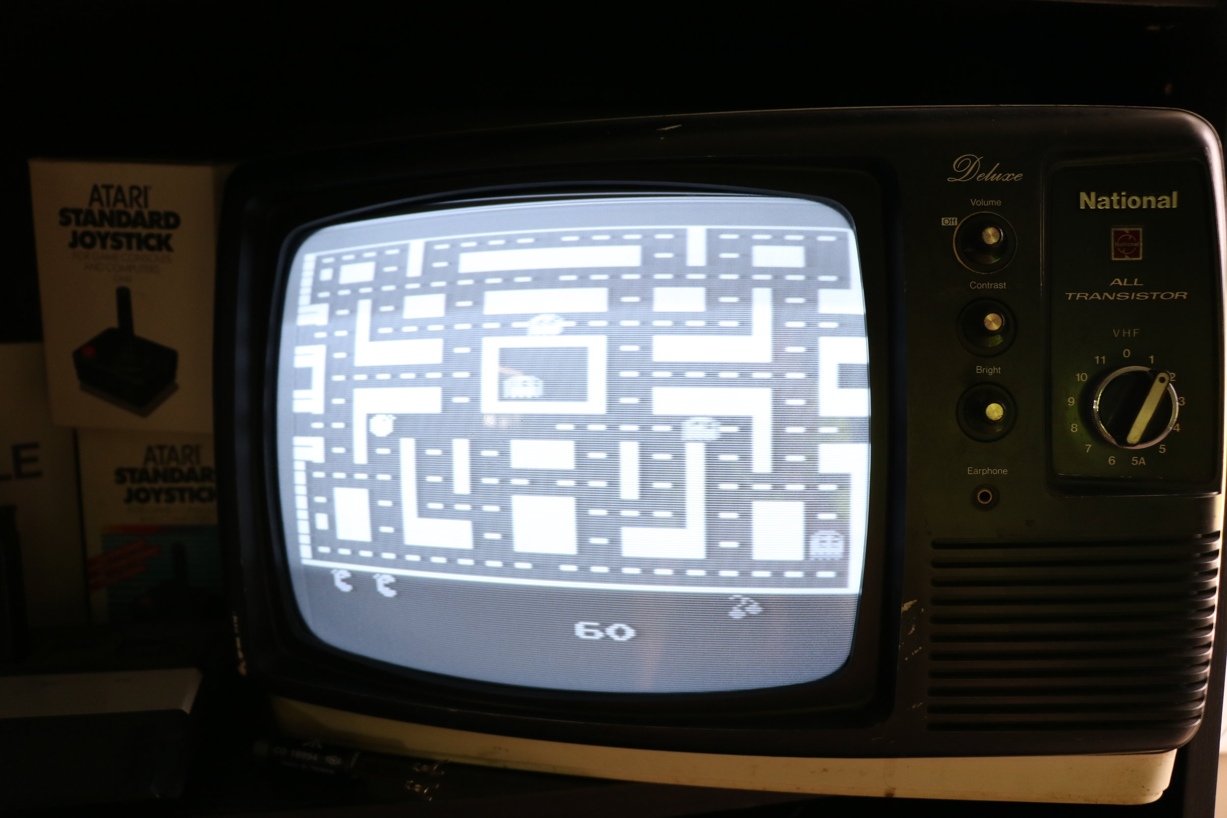 Ms. Pacman in fifty shades of grey (be sure to switch your Atari 2600 into B&W mode).