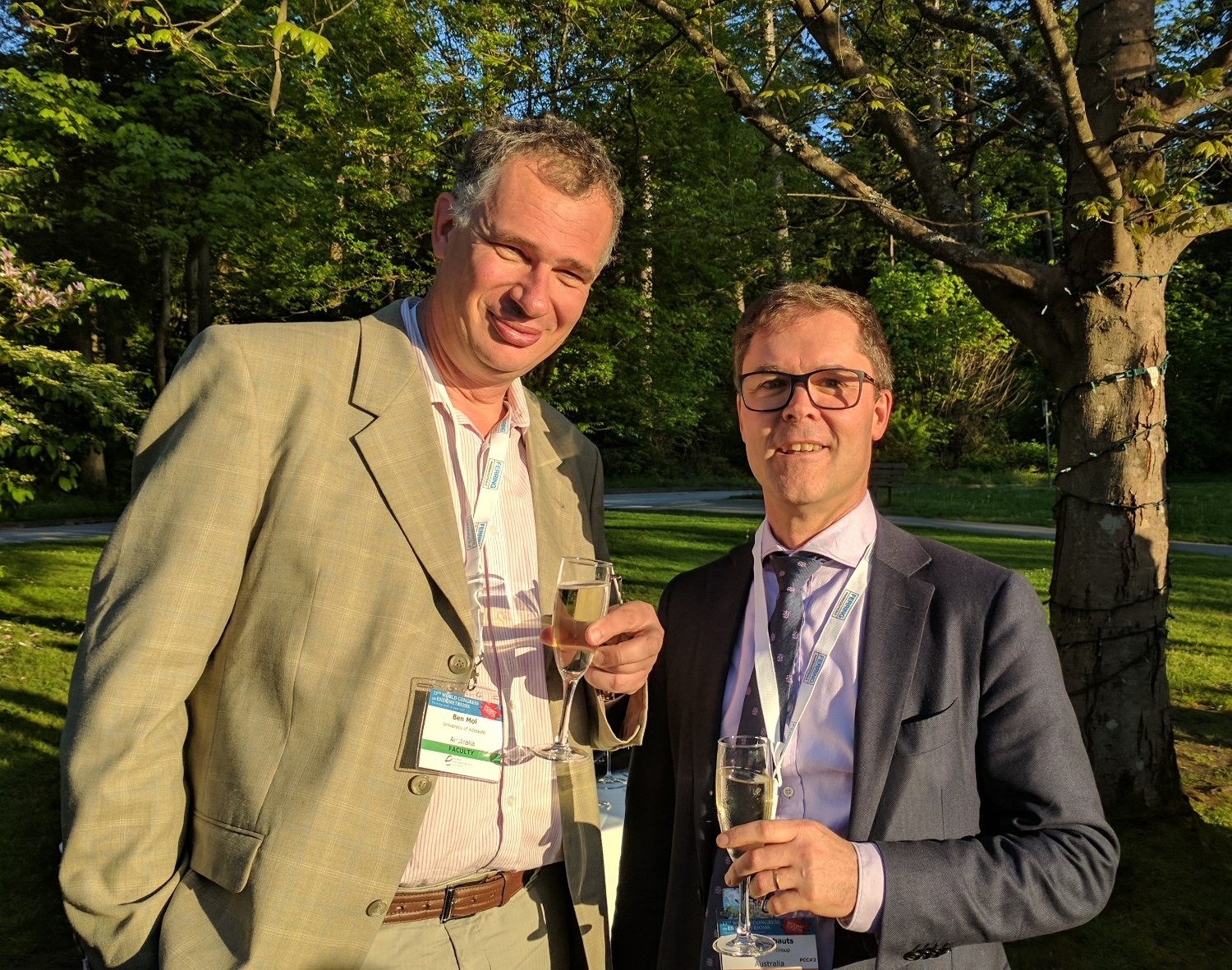 Professor Ben Mol and Professor Luk Rombauts at the World Congress of Endometriosis in Vancouver