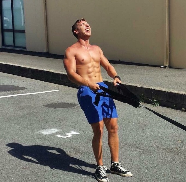 backward sled drags are great for the hamstrings!