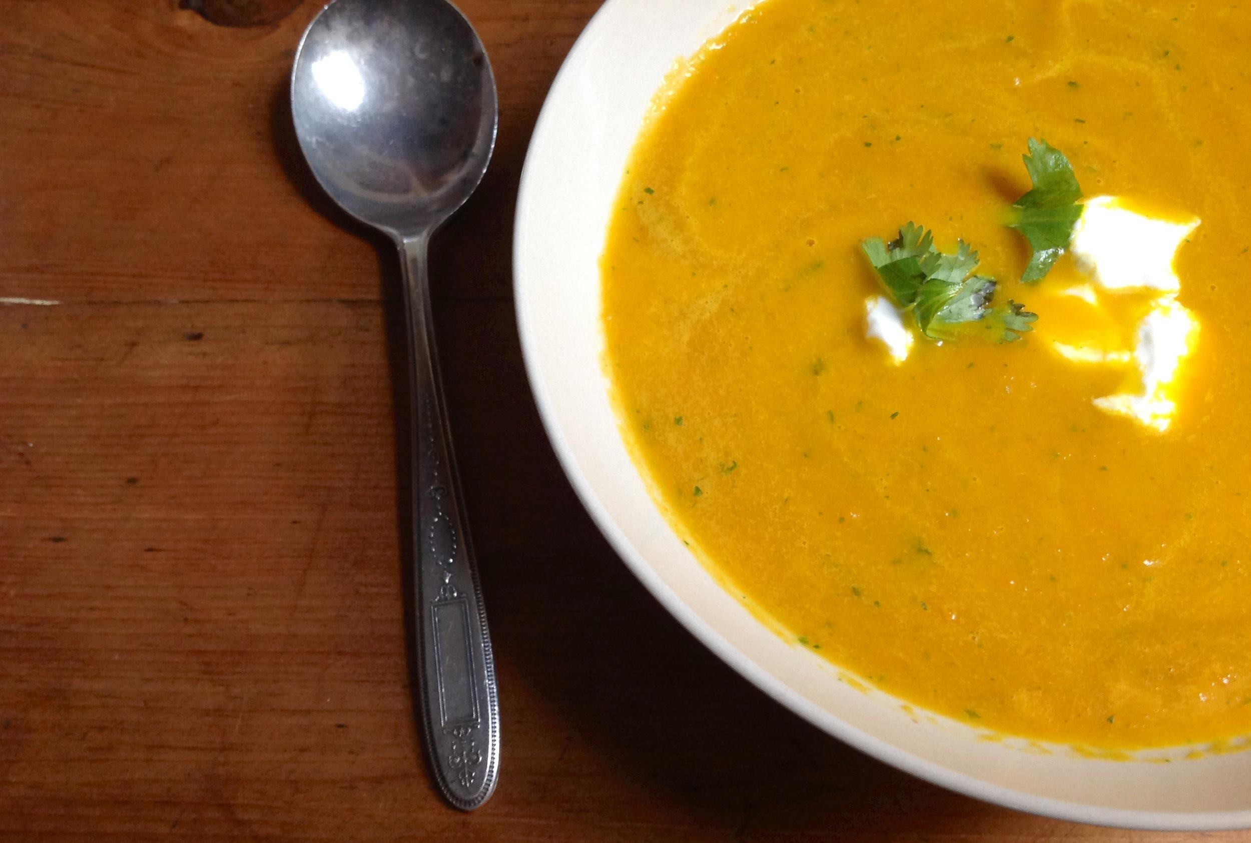 Carrot and Coriander Soup- Summer 2013.jpg