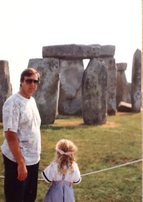 My Daddy, Jan, and I solving the mystery of Stonehenge