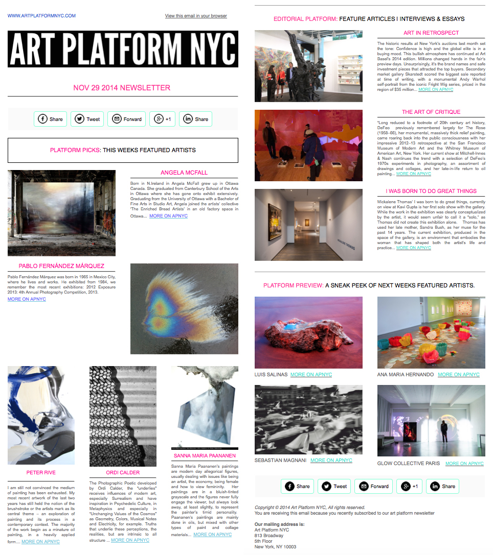 PETER RIVE - NYC newsletter