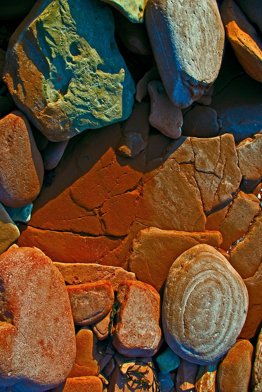Beach stones, Prince Edward Island, Canada