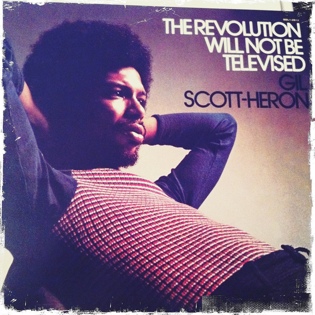 Gil Scott-Heron. Image courtesy Michael Brown,  https://www.flickr.com/photos/nworbleahcim/5766893660