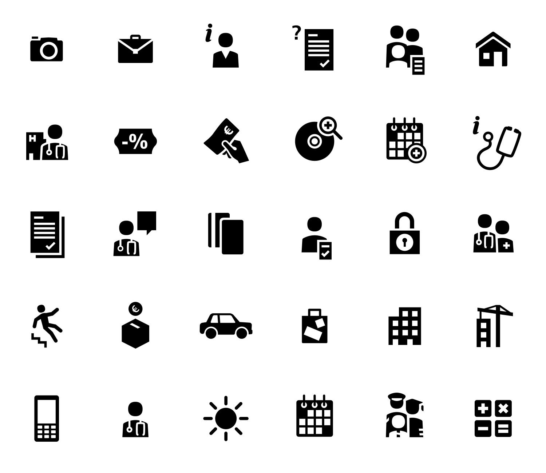 Algunos pictogramas para la Caixa / Adeslas