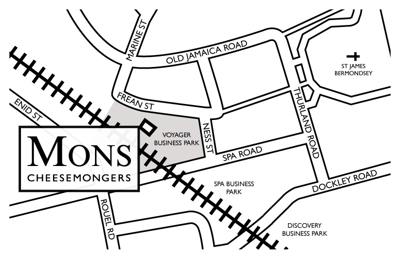 Map of Mons at Voyager Business Park, Spa Road. Click map to enlarge.