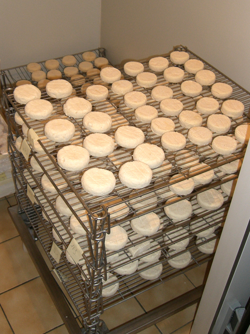 Banon drying on racks