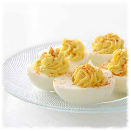 Hot Pepper Jelly Deviled Eggs