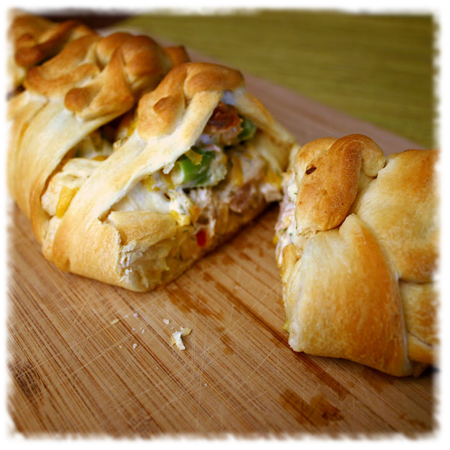 Broccoli Chicken Braid