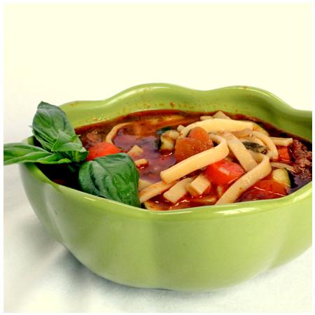 Sausage Soup with Kluski Noodles