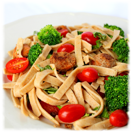 Noodles with Turkey Sausage