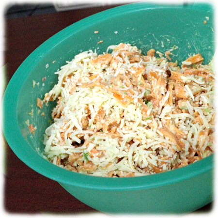 Bell Pepper-Basil Noodles used in recipe in picture