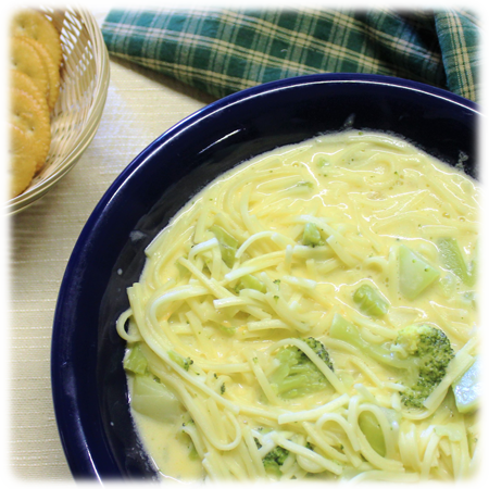Broccoli Cheese Noodle Soup