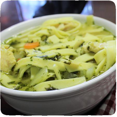 Lemon Cilantro Chicken Noodle Soup