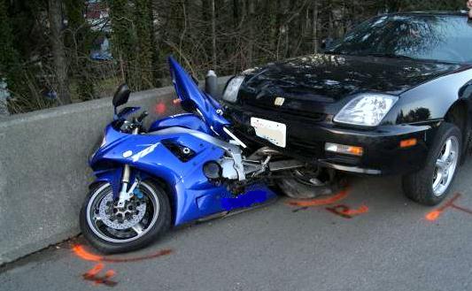 INJURY FROM MOTORCYCLE CRASH