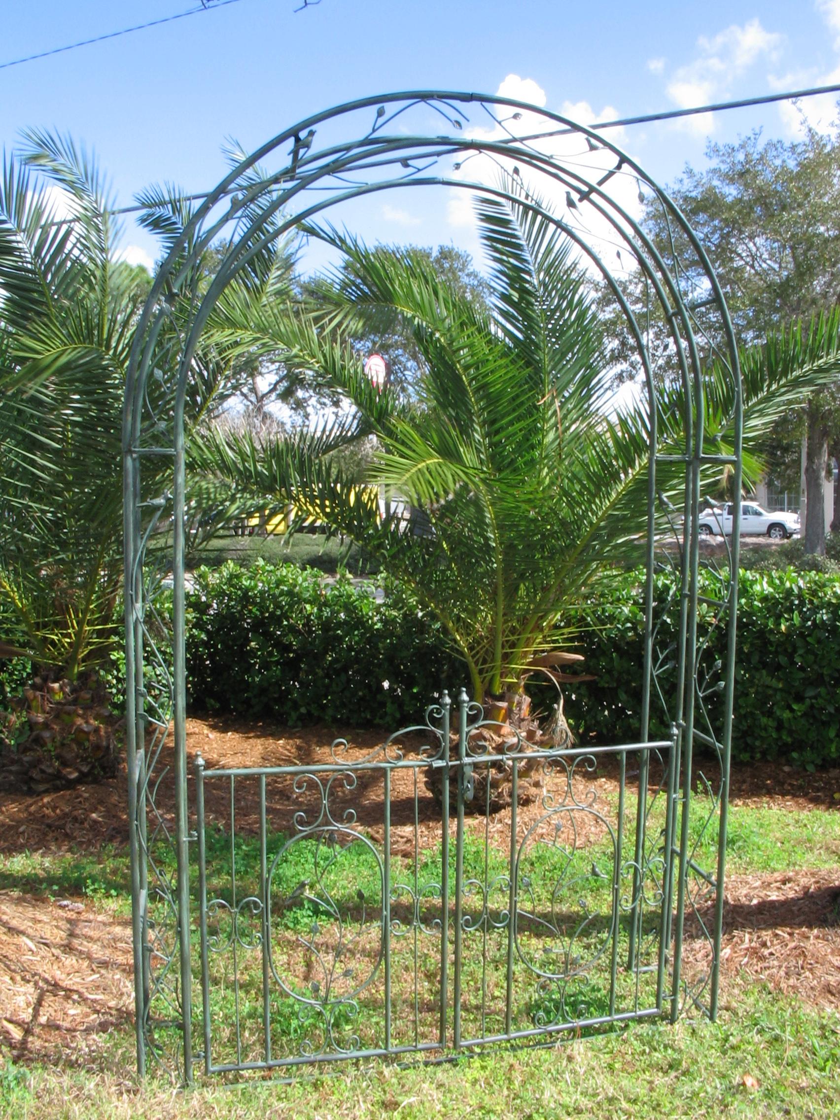 Iron Garden Gate Archway $150