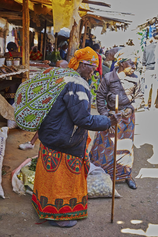 Zambian Woman with Bundle