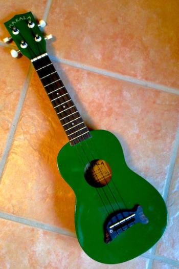 A green ukulele is a joy forever.