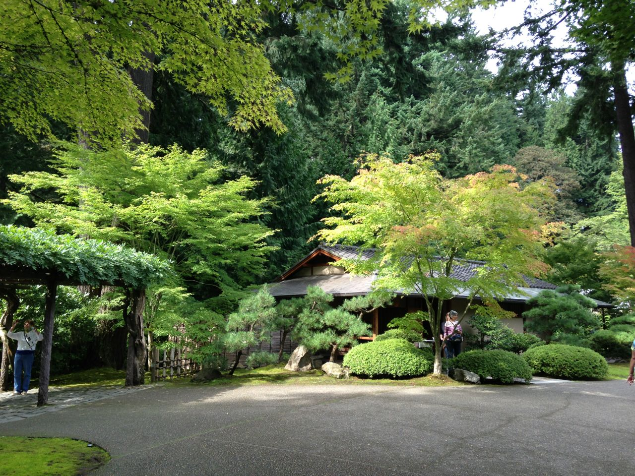 The Portland Japanese Gardens. I haven't altered this photo, the color is just always this saturated in Portland, maybe because of the clouds?