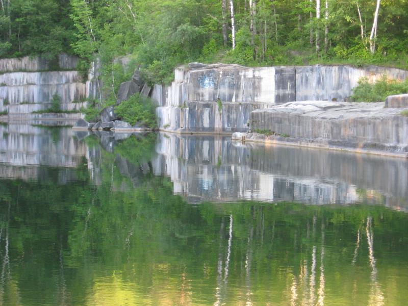 A Vermont marble quarry.