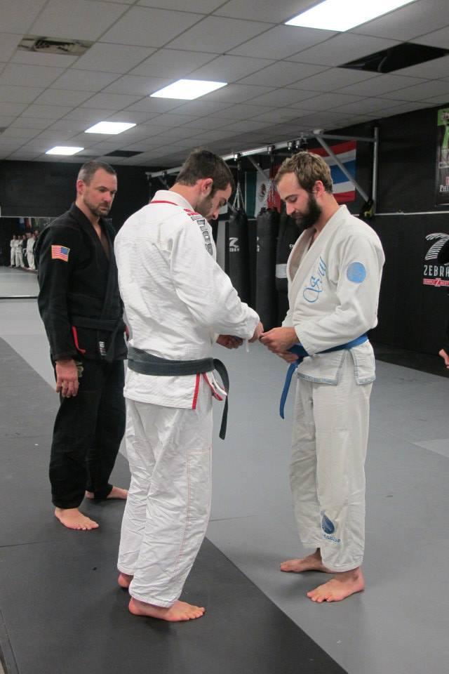 new stripe back in my blue belt days :)