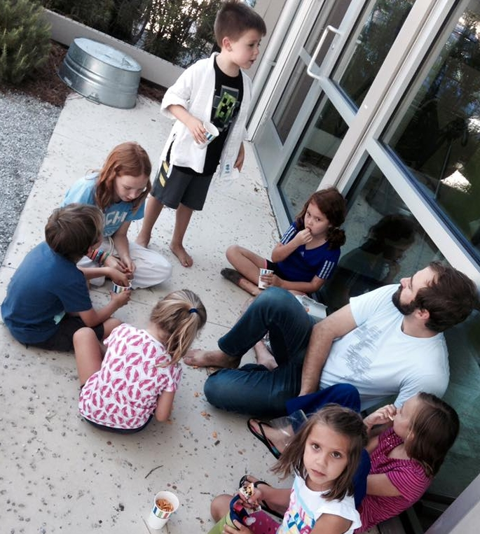 very important ice cream break during Summer camp :)