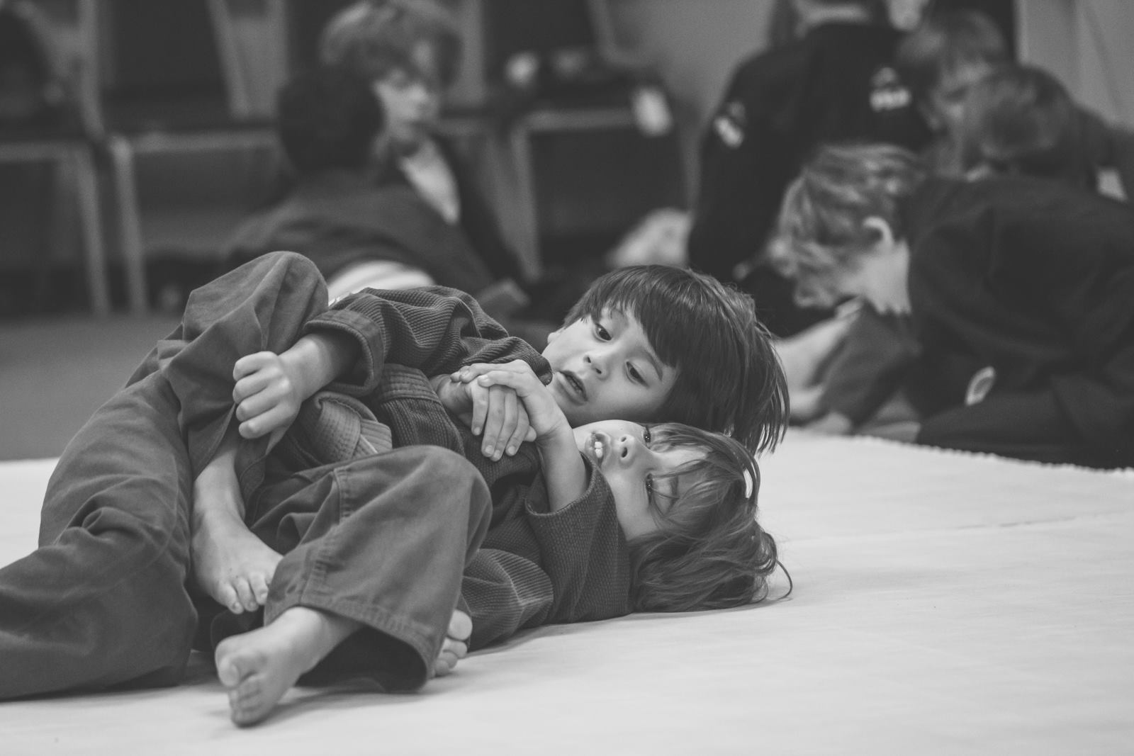 2 dedicated Jiu Jitsu kids Yong Yi and Gus working the back take