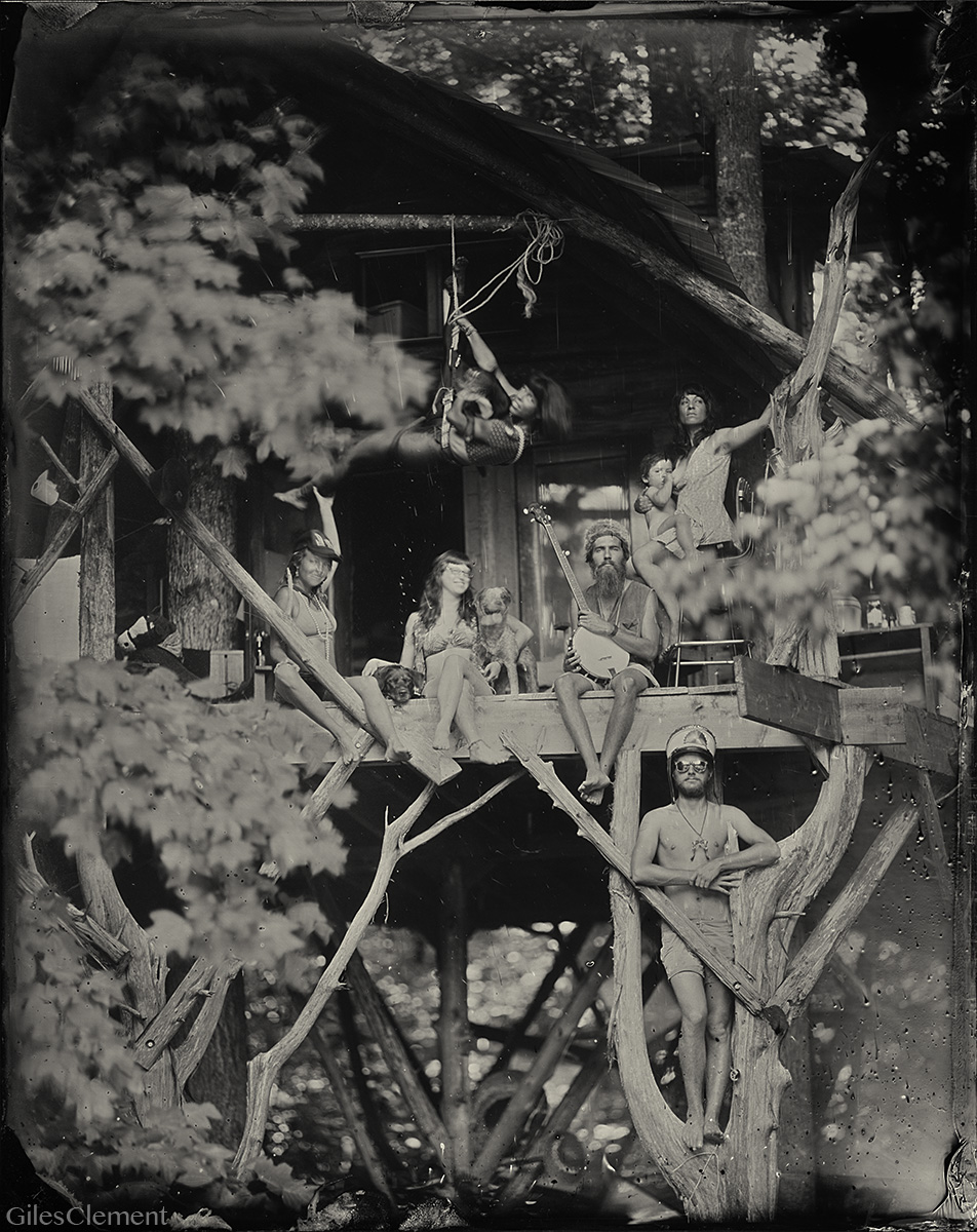Ada and the neighbors in her Treehouse.