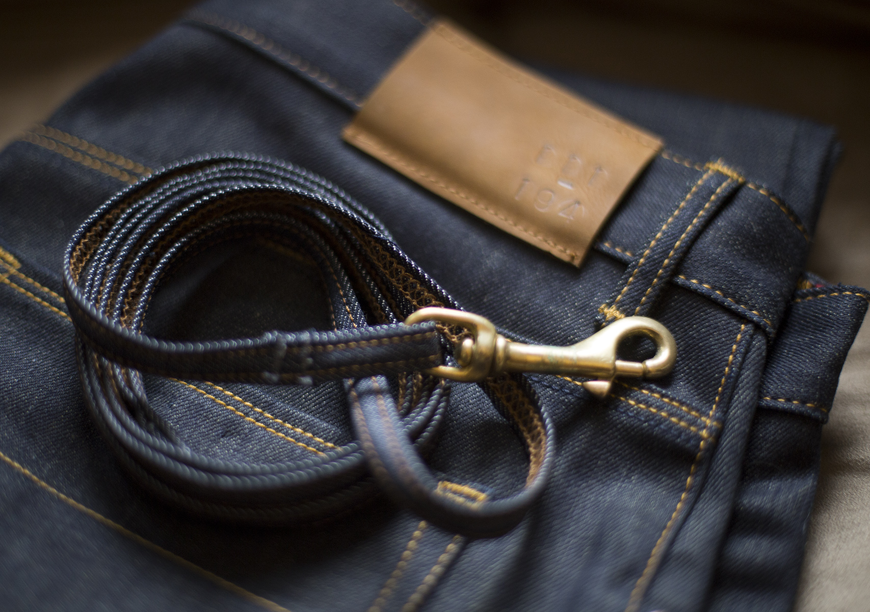 New jeans for me and a leash for Zeiss.