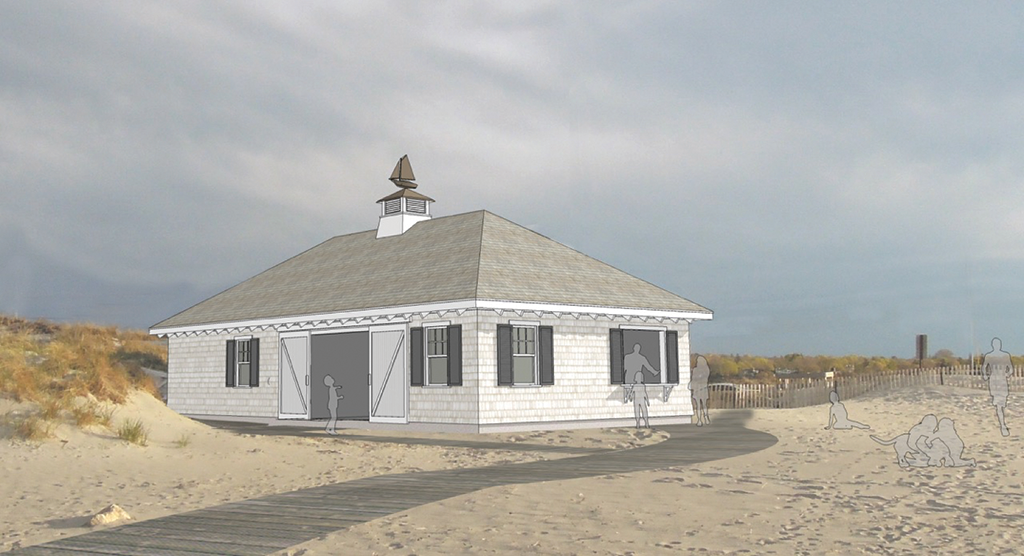 Proposed design for new Sandy Beach House.