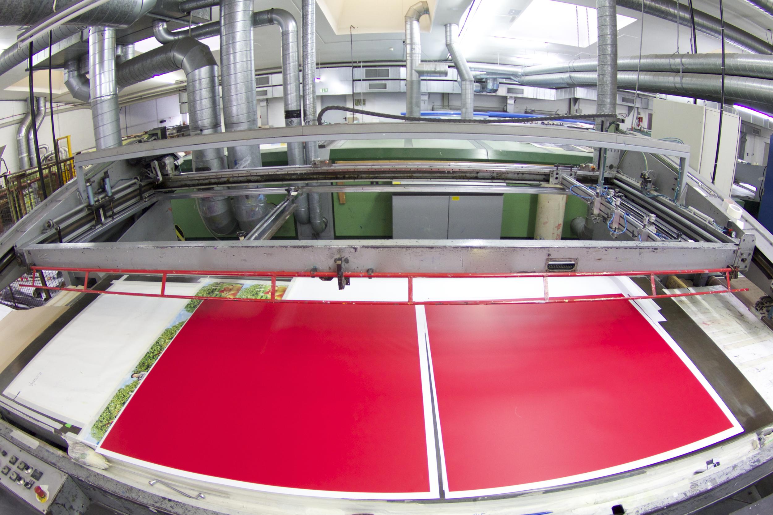Einfarbsiebdruck im Format bis4,0m x 1,50m