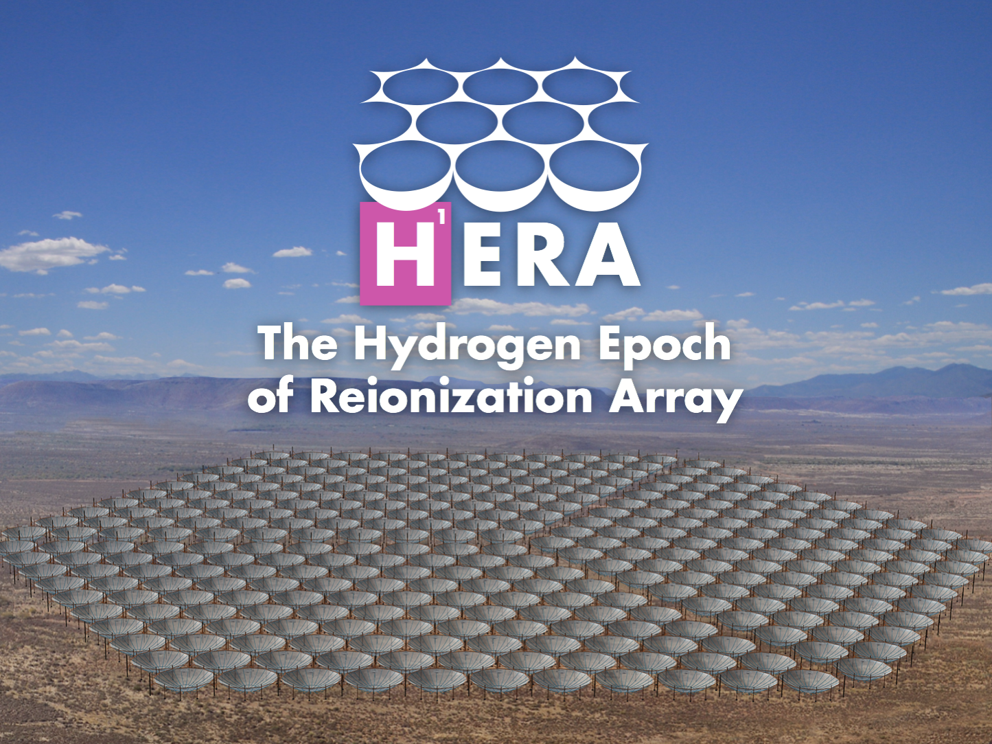 A rendering of the 320 dishes in the core of HERA, currently under construction in the Karoo Desert in South Africa.  Image Credit: Dave DeBoer