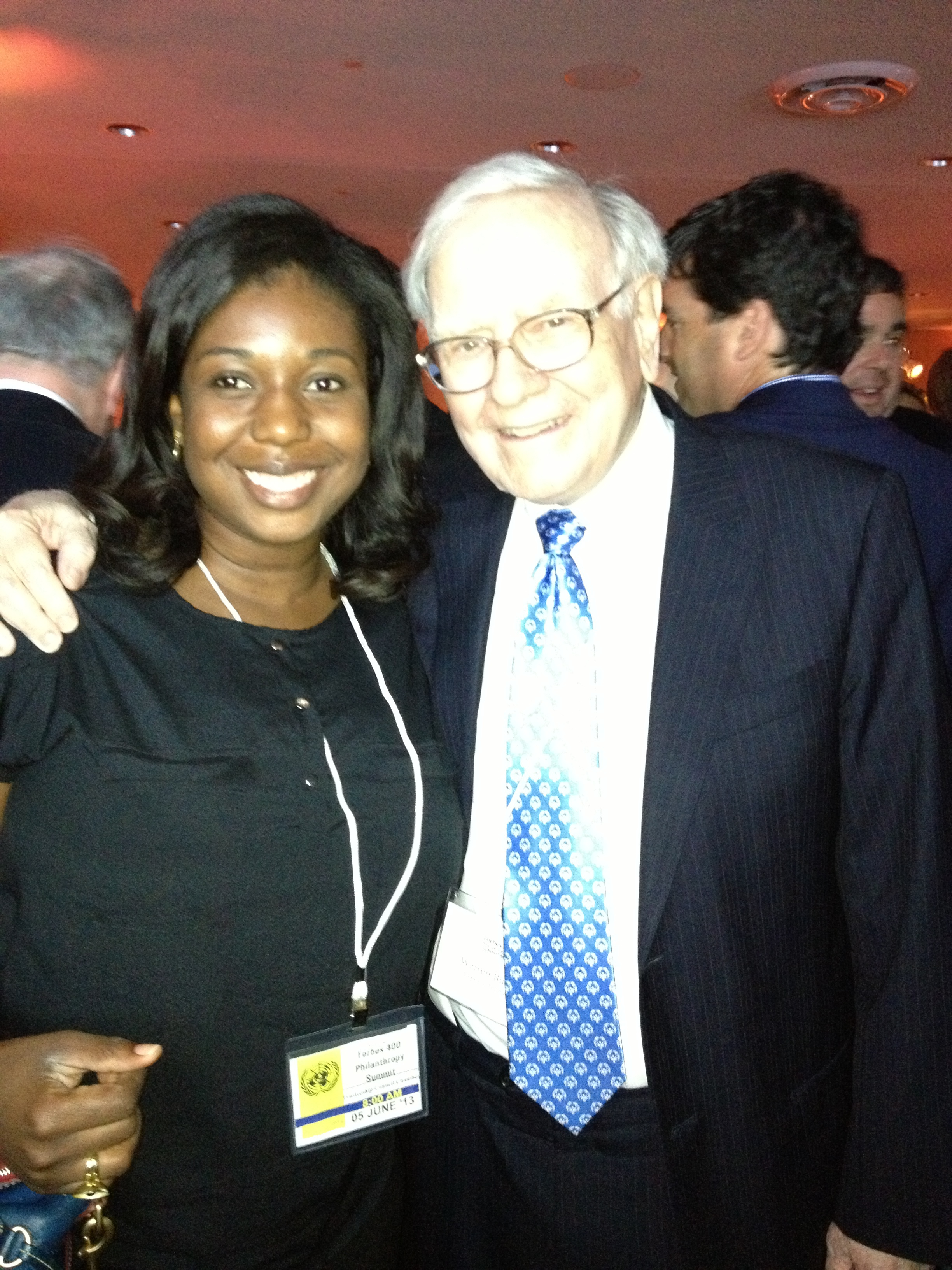 """""""You know him as a shrewd business tycoon but I got to meet the kind and warm philanthropist that is Mr. Warren Buffet"""" - Jennah Scott"""