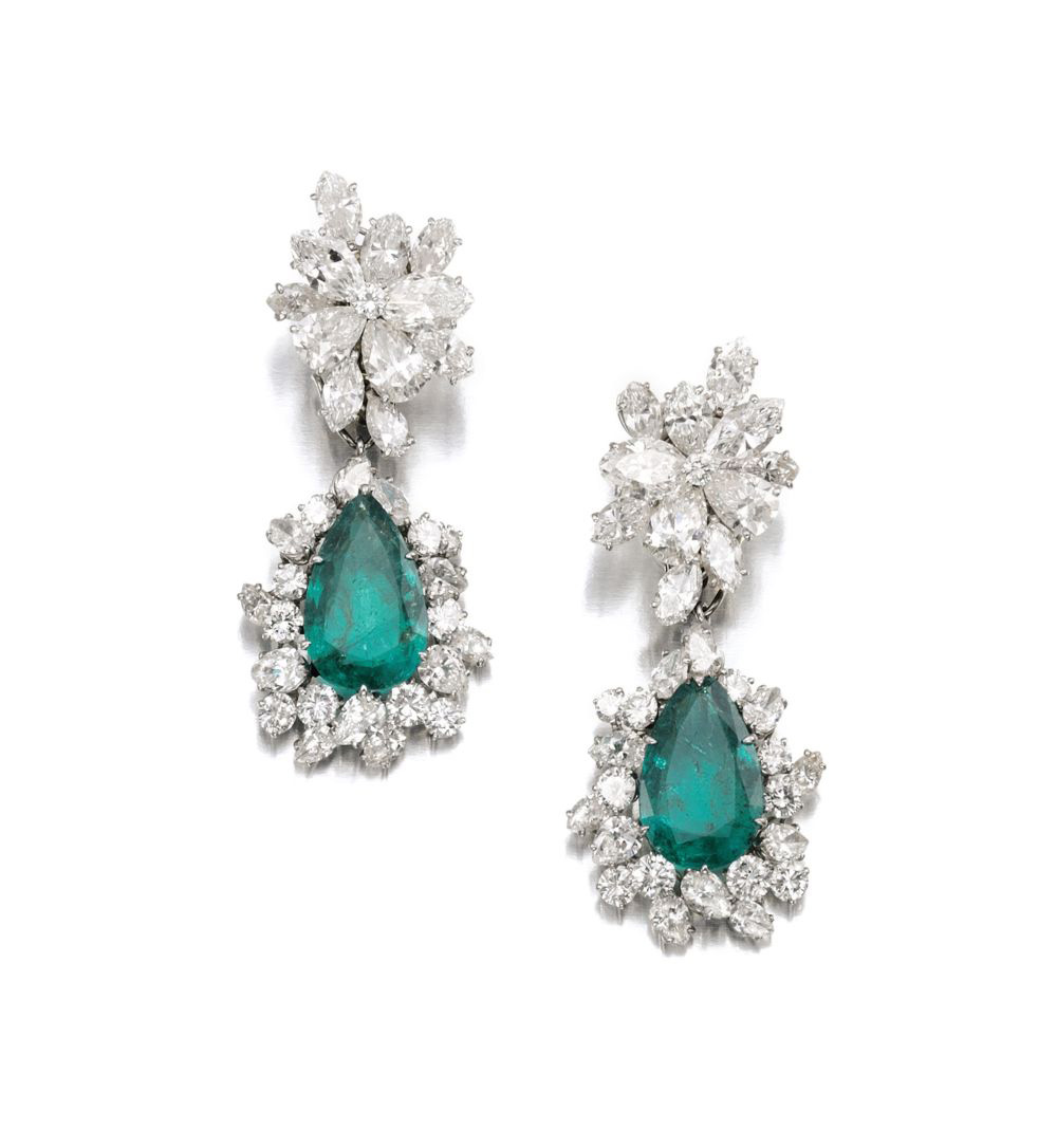 BVLGARI Emerald and Diamond Earrings