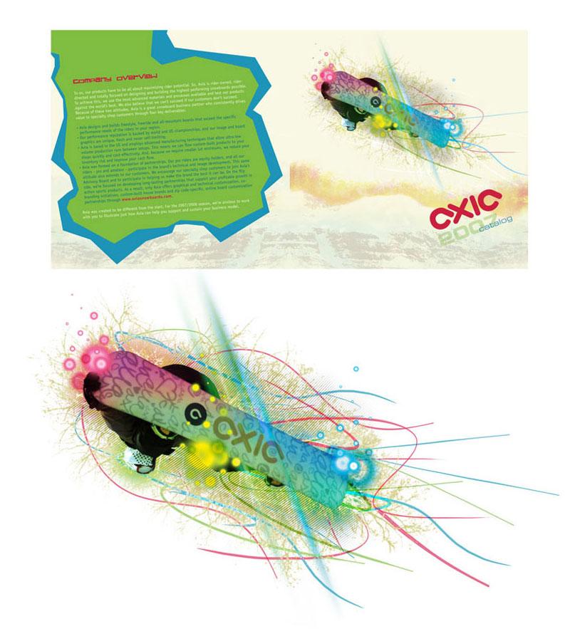 Axia Brochure - Brochure design for a snowboard company