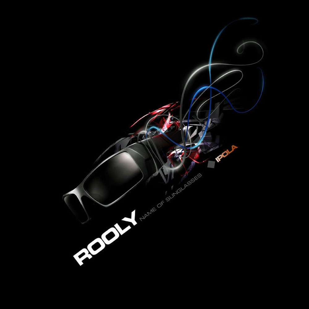 Rooly SUnglasses - Promotional flyer concepts showcasing the technology in eyewear.
