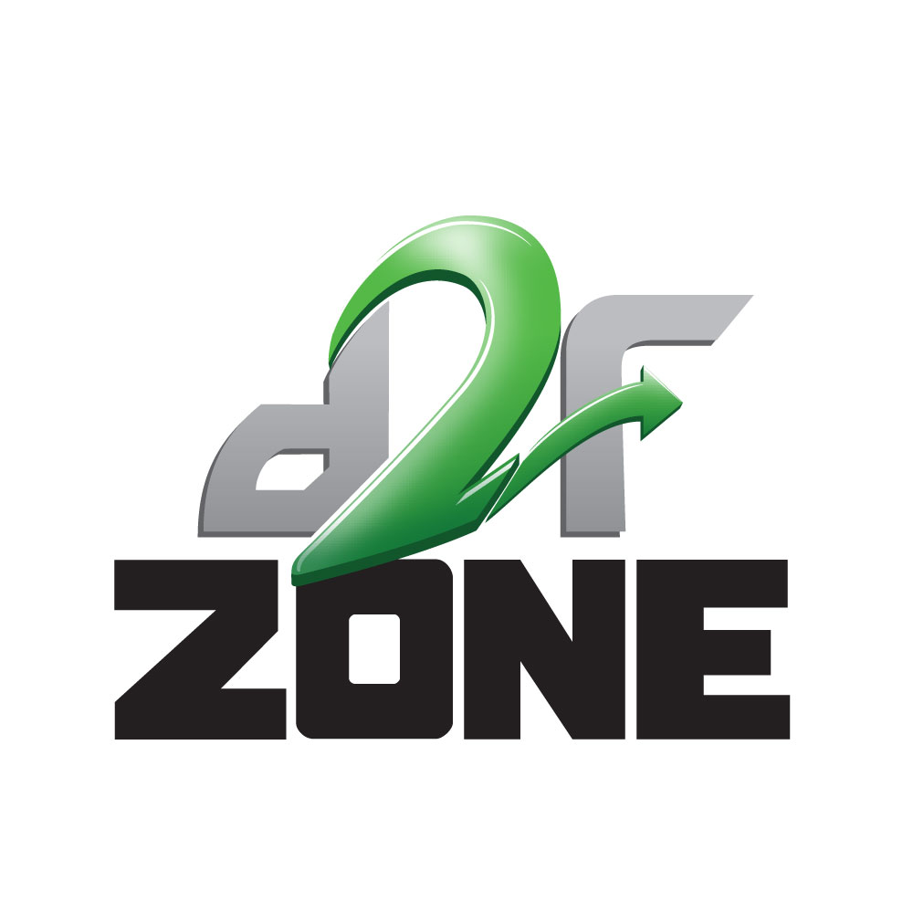 d2f Zone - Logo design for a mobile app that links fans to their favorite sports team, providing stats on teams during live games.