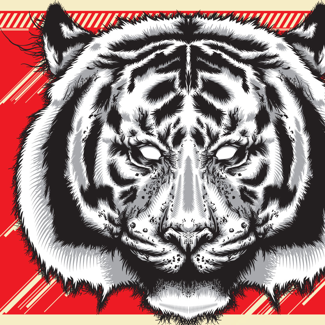 Tiger GLitch - Vector experiments using sketches andAdobe Illustrator.