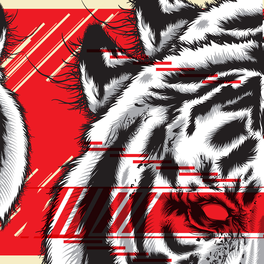 Tiger Glitch Illustration Detail - 01
