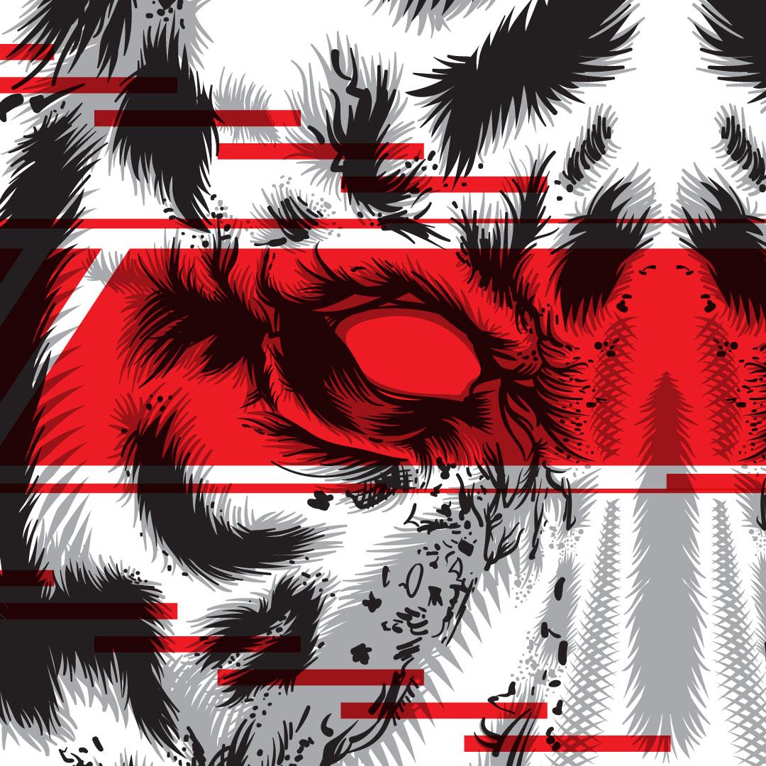 Tiger Glitch Illustration Detail - 03