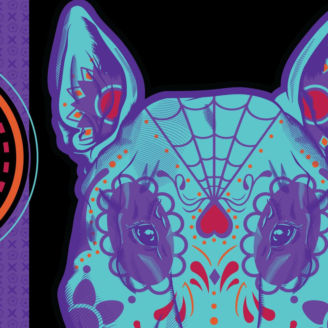Dia De Los Muertos - Bull Terrier - 01