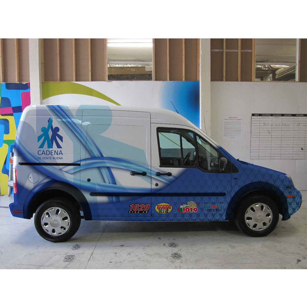 Cadena Vehicle Vinyl Wrap - Design from concept to completion a branded vinyl vehicle wrap.