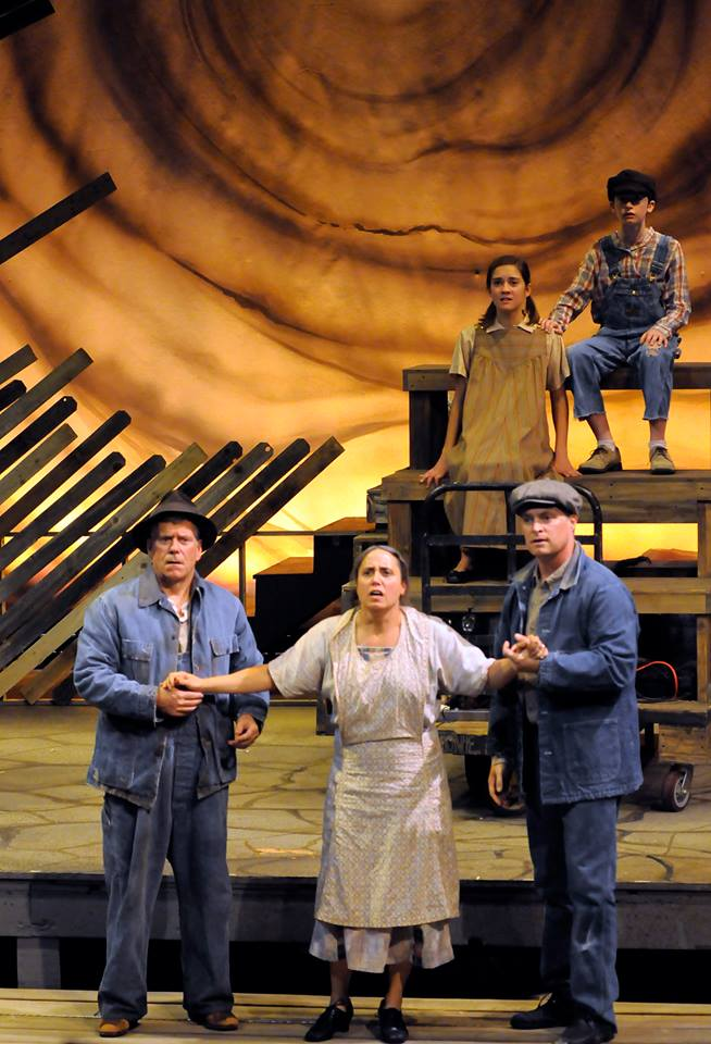 Sacramento Theatre Company's 2014 production of  Grapes of Wrath  with Laura Kaya, Kirk Blackinton, and Matt Miller*  * Member of the Actors' Equity Association